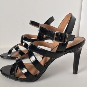 Dress Barn Black Strappy Stilettos Sz 9